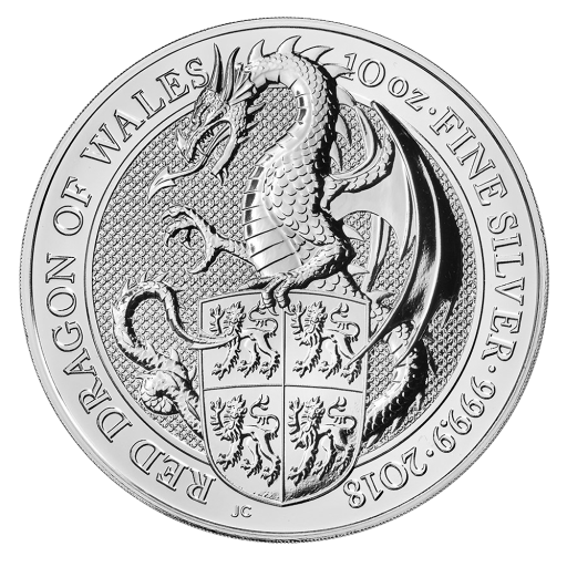 10 oz Queen's Beasts Dragon | Argent | 2017