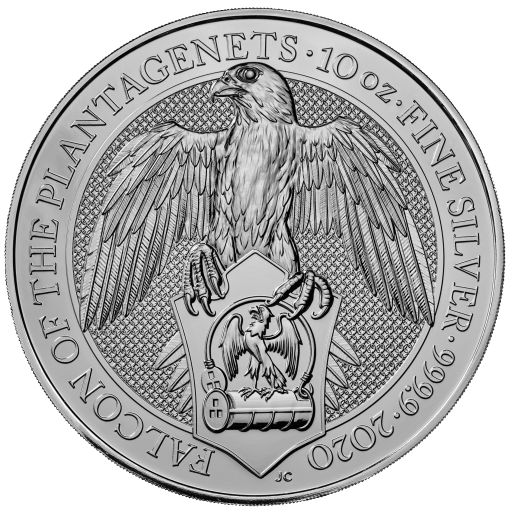 10 oz Queen's Beasts Falcon Silver Coin (2020)