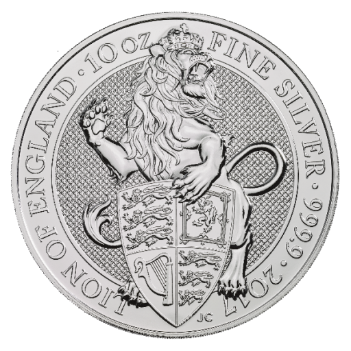 10 oz Queen's Beasts Lion Silver Coin (2017)
