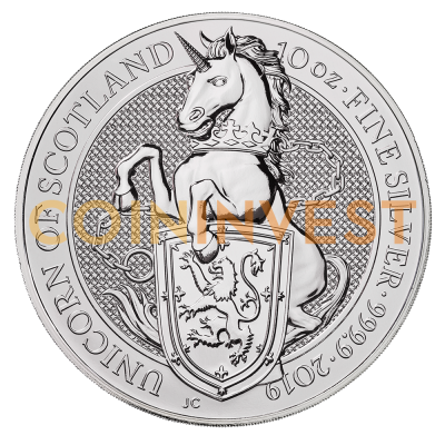 10 oz Queen's Beasts Unicorn Silver Coin (2019)