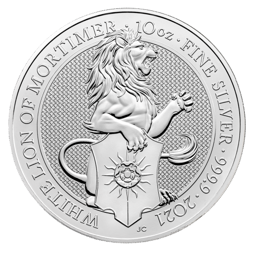 10 oz Queen's Beasts White Lion Silver Coin (2021)