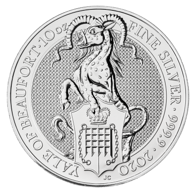 10 oz Queen's Beasts Yale of Beaufort | Argent | 2020