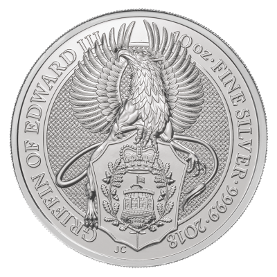 10 oz Queen's Beasts Griffin Silver Coin (2018)