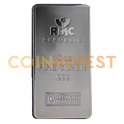 10 oz Silver Bar | Republic Metals