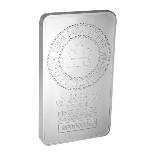 10 oz Lingot d'Argent | Royal Canadian Mint