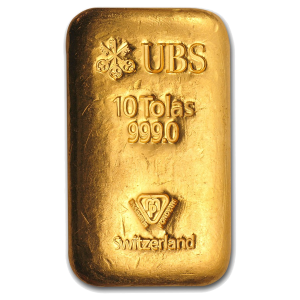 10 Tolas Gold Bar Ubs Coininvest