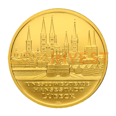 100 Euro UNESCO Hanseatic City of Lubeck | Gold | 2007 | Mintmark A