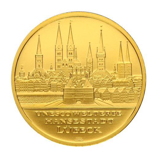 100 Euro UNESCO Hanseatic City of Lubeck | Gold | 2007 | Mintmark J
