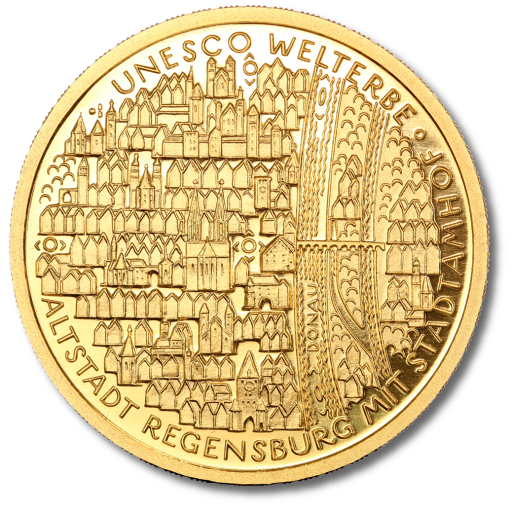 100 Euro UNESCO Old Town of Regensburg | Gold | 2016 | Mint Mark A