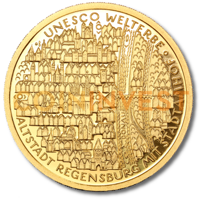 100 Euro UNESCO Old Town of Regensburg | Gold | 2016 | Mint Mark F