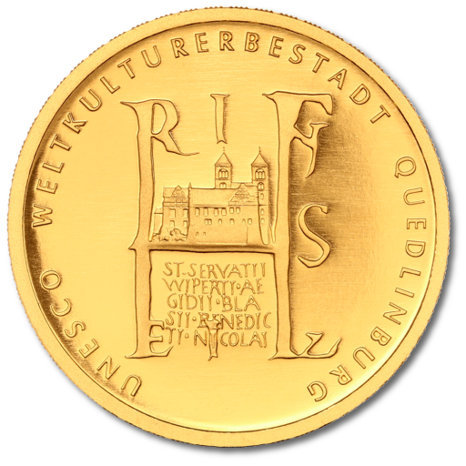 100 Euro UNESCO World Heritage Quedlinburg | Gold | 2003 | Mintmark F