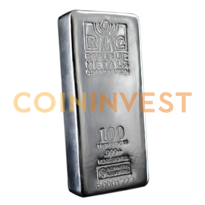 100 oz Silver Bar | Republic Metals