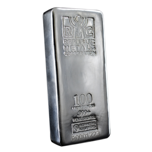 100 oz Lingote de Plata | Republic Metals
