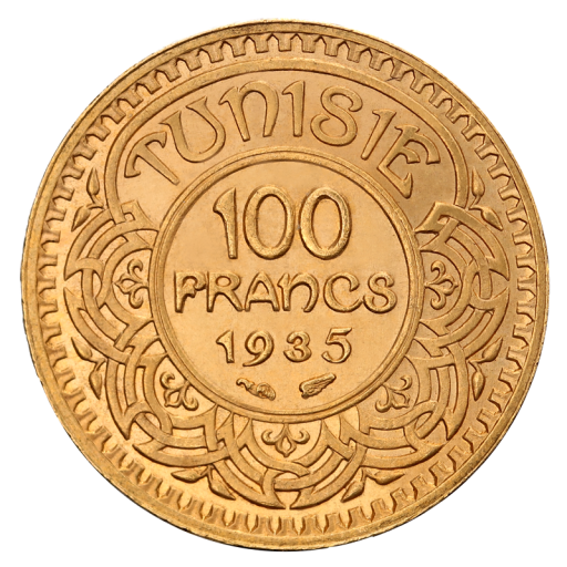 100 Francs Tunisiens | Or | 1930-1956