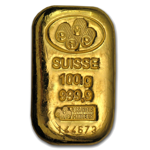 100g Gold Bar | Casted | PAMP Suisse