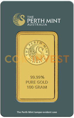 100g Gold Bar | Perth Mint | circulated