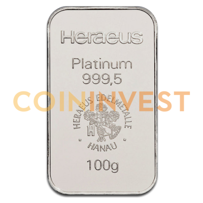 100g Platinum Bar | different manufacturers