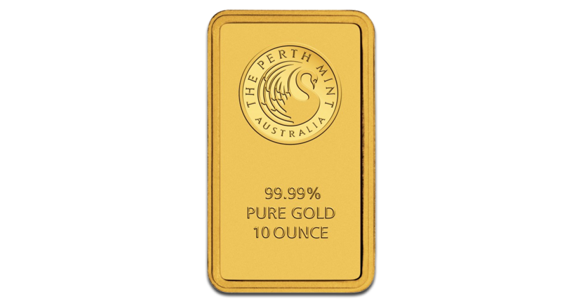 Buy 10oz Gold Bars Perth Mint Gold Bullion Coininvest Com