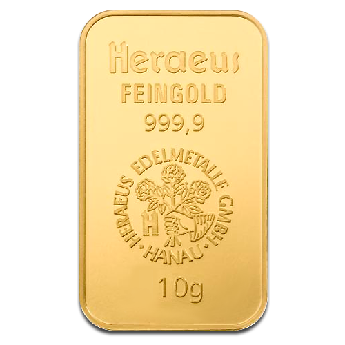 10g Gold Bar | Heraeus | 2nd Choice