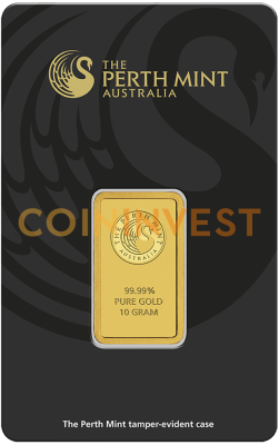 10g Goldbarren | Perth Mint | mit Zertifikat