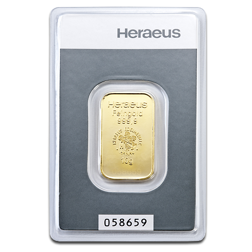 10g Gold Bar (Heraeus)