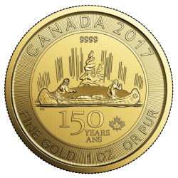 1oz Canada 150 Voyager Gold Coins