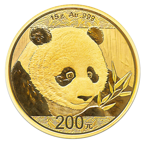 15g China Panda Gold Coin 2018