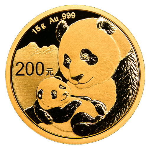 15g China Panda Gold Coin (2019)