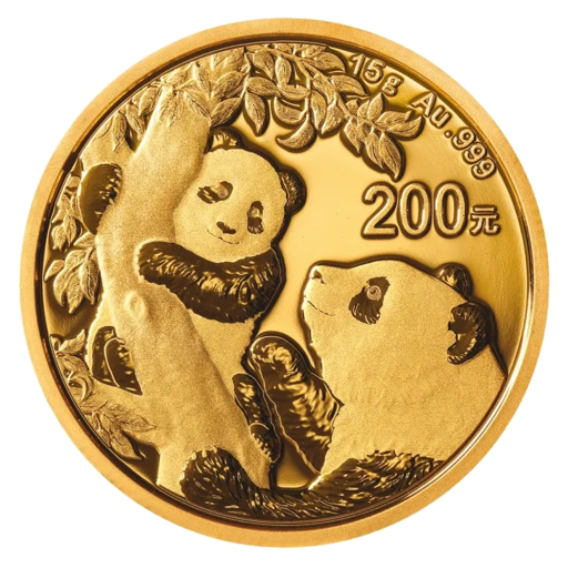 15g China Panda Goldmünze (2021)