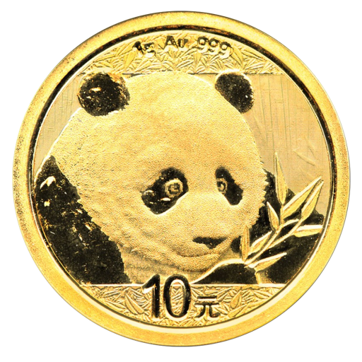 1g China Panda Gold Coin 2018