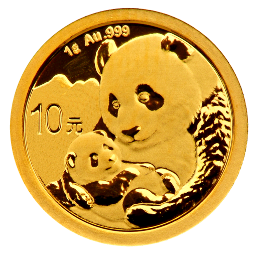 1g China Panda Gold Coin (2019)