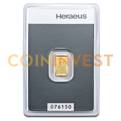 1g Gold Bar (Heraeus)