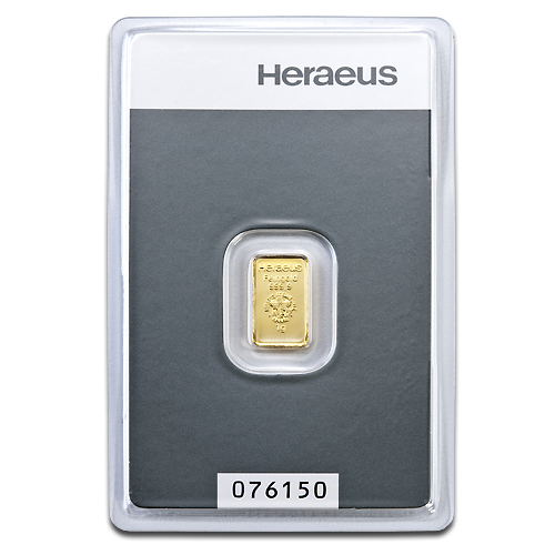 1g Gold Bar | Heraeus
