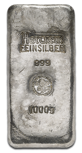 1 Kilo Silver Bar | different manufacturers | 2nd Choice