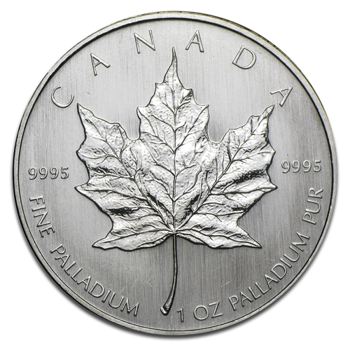 1 oz Maple Leaf Palladium coin (mixed years)