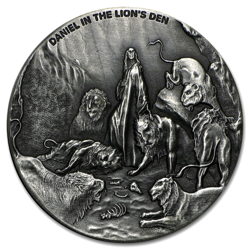 2 oz Daniel in the Lion's Den Silver Coin (2016)