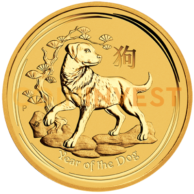 2 oz Lunar II Dog | Gold | 2018