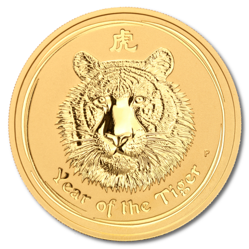 2 oz Lunar II Tiger | Gold | 2010