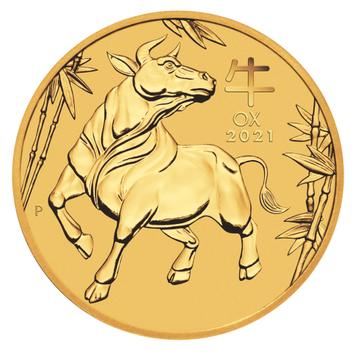 2 oz Lunar III Ox Gold Coin (2021)