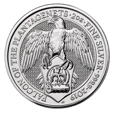 2 oz Queen's Beasts Falcon Silver Coin (2019)