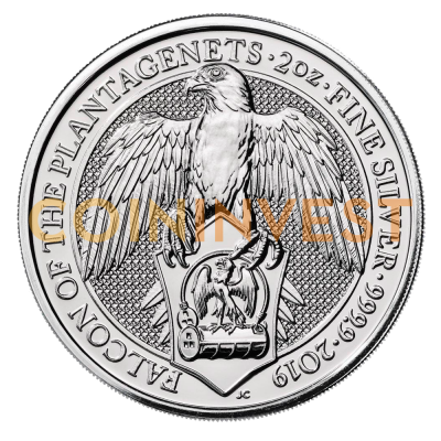 2 oz Queen's Beasts Falco d'argento (2019)