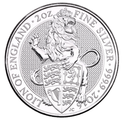 2 oz Queen's Beasts Lion Silver Coin (2016)