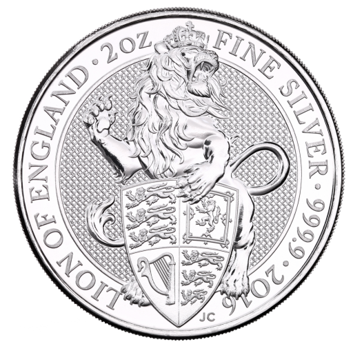 2 oz Queen's Beasts Lion | Argent | 2016