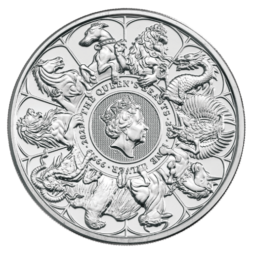2 oz Queen's Beasts The Completer Silver Coin (2021)