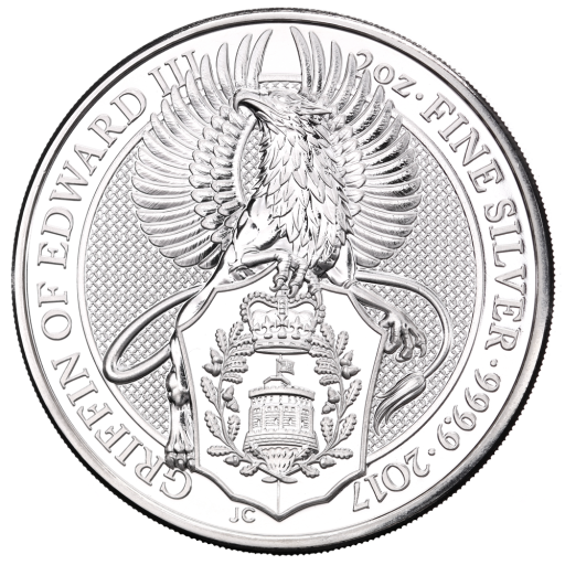 2 oz Queen's Beasts Griffon | Argent | 2017