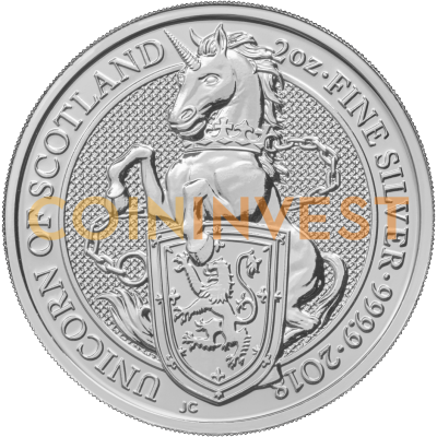 2 oz Queen's Beasts Unicornio | Plata | 2018