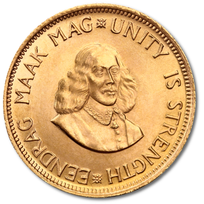 South African 2 Rand Gold Coin (1961 - 1983)