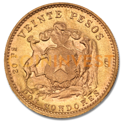 20 Pesos Chilien Liberty | Or | 1895-1980