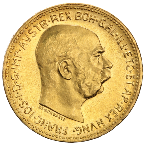 20 Corona Franz-Joseph I Austria New Edition Gold Coin (1915)