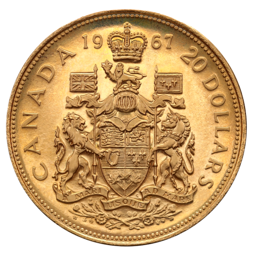 20 Dollar Centenaire de la Constitution Canadien | Or | 1967